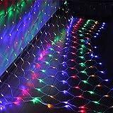 HJ®300 LEDs 3*2 m Lichternetz Twinkle Wasserdicht IP44 Weihnachtslichterkette Bunt Lichterkette für Weihnachten Party Hochzeit außen innen Zimmer Konzerte