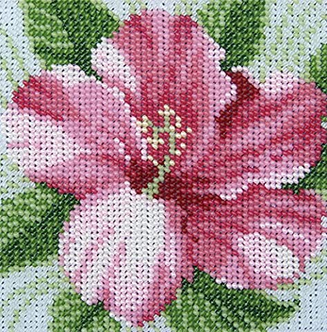 Hibiscus Counted Bead Embroidery Kit 12x12 cm