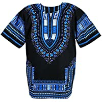Chainupon African Dashiki Cotton Shirt Unisex Tribal Festival Boho Hippie Kaftan 6