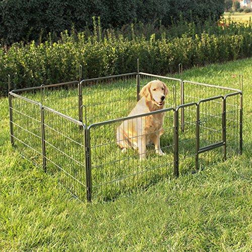 Songmics Welpenauslauf für Hunde Kaninchen 80 x 60 cm PPK86G -