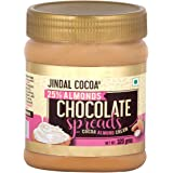 Jindal Cocoa White Chocolate & Almond Spread cream with Cocoa Butter , 320 g
