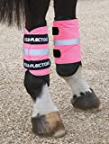 Shires High Vis Leg Bands For front or hind legs Pink