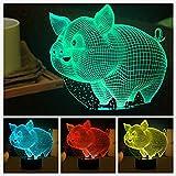 3d schwein nachtlicht illusion lampe 7 farbe ändern führte an usb - tabelle geschenk kinder spielzeug dekor und weihnachten zum valentinstag geschenk