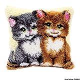 Vervaco PN-0014131 Knüpfkissen 3528 Katzen