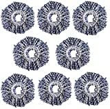 #8: Royal Export Microfiber Spin Mop Refill (White, Pack of 8)