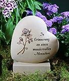 """Grabherz mit Rose """"In Erinnerung an..."""""""