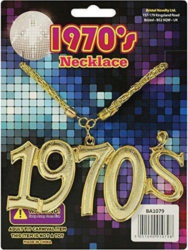 Erwachsene Weihnachtsfeier Accessoire 1970er Stil Goldkette Medaillon (Schmuck 1970er)