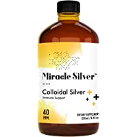 Blessed Organics Miracle Silver Ionic Colloidal Silver 40 PPM, 250 ml Natural and Safe Immune Booster, High Strength…