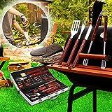 Fixkit 18-teilig Grill-set, Grillbesteck-Set, outdoor grill, BBQ Grill, barbecue set, Grillbesteck Set im Aluminium Koffer BBQ Grill-Utensilien Edelstahl -