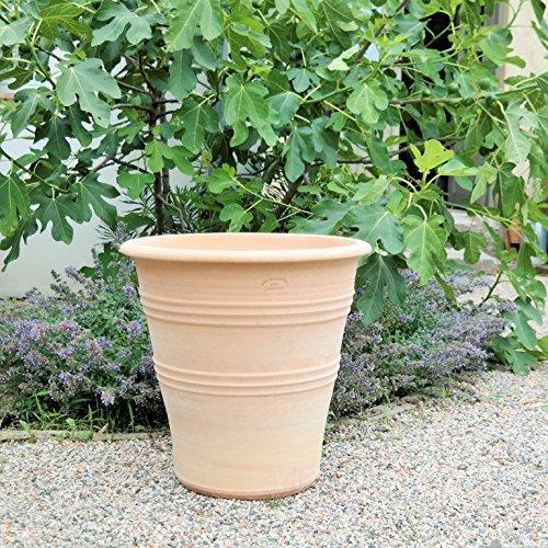 Fabriquée à la main Pot en céramique de Crète, véritable Terracotta résistant au gel, jardin terrasse, 30–60 cm, yucca2 50 cm