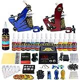 Solong Tattoo equipos del Tatuaje Completo 2 Maquina de Tatuaje 14 Tintas Fuente de Alimentacion Pedal Agujas Grips Consejos TK210
