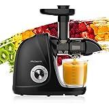 Entsafter, Slow Juicer Entsafter Gemüse und Obst, BPA-frei Saftpresse Leicht Reinigung mit Ruhiger Motor und Umkehrfunktion,