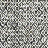 Fabulous Fabrics Canvas Baumwollstoff Batikrauten - grau -