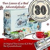 30. Geburtstag | Adventskalender Two Leaves & a Bud | Kalender Advent Frauen Kalender Advent Männer Kalender Advent Tea Adventskalender PyramidenTeebeutel Adventskalender PyramidenTeebeutel