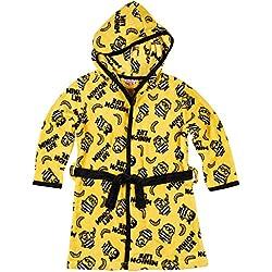 Minions Despicable Me Garçon Robe de chambre à capuche polaire, toucher doux - jaune - 6 ans