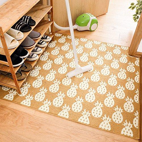 lililili Fuß matten,Anti Rutsch Shaggy Teppich saugfähigen verschleißfesten Easy Care Fußmatten Fußmatte Wohnzimmer Sofa Kissen fuß Pad Teppich-Gelb 80x300cm(31x118inch) (Zeitgenössische Sofa Traditionellen)