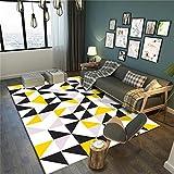 CHAI Wohnzimmer Dekorative Teppiche Geometrische Muster Fußmatten 3D Färben europäischen Einfachen Stil rechteckige Teppiche Kinder Teppiche Schlafzimmer Rutschfeste Teppiche Teppich Teppiche