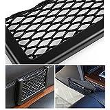 Wuudi Rechteck schwarz Nylon Net Design Handy Geld Auto Pocket Aufbewahrung Pocket 15cm lang