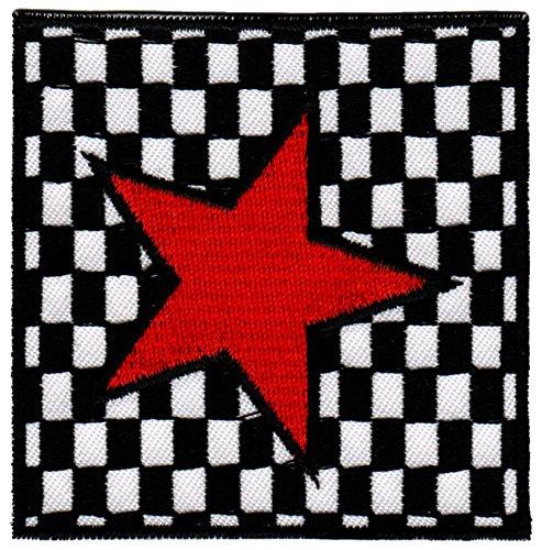(Roter Stern Aufnäher Bügelbild Patch Applikation)