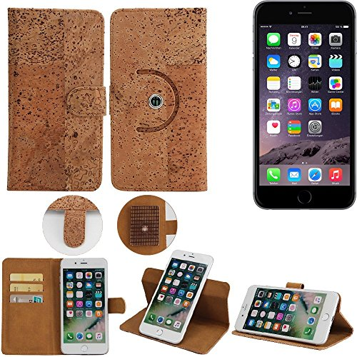 lle für Apple iPhone 6 Handyhülle Kork Handy Tasche Korkhülle Schutzhülle Handytasche Wallet Case Walletcase Flip Cover Smartphone ()