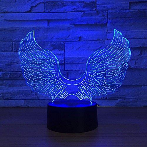 el 3D Led Lampe Usb Bunte Note 3D Nachtlicht Schreibtisch Tischlampe Baby Schlafen Licht Kinder Beste Geschenke Halloween Geschenk ()