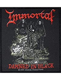 Immortal Badges Damned in Black Patch tissé 10x 11cm
