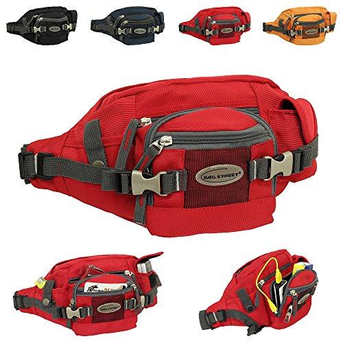 Geschenkset - exklusiver Ledershop24 Schlüsselanhänger + Herren & Damen Bag Gürteltasche Bauchtasche Hüfttasche Angeltasche Wimmerl Tasche ca. 25 cm vers. Farben