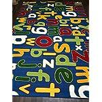 Non Slip Kids Alphabet Large Play Mat/Rug 200cm x 300cm Hours Of Fun Home/School