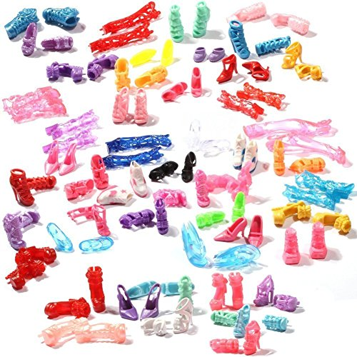 60-pairs-different-high-heel-shoes-boots-accessories-for-barbie-doll