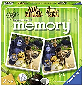 Ravensburger- Memory XL, Girly Girl Edition, La Panda de la Selva (21314)