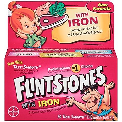 Flintstones Children'S Multivitamin Plus Iron Chewable Tablets 60-Count