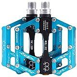 GUTANG-DC Pedali Bicicletta Alluminio CNC Pedal Bici MTB BMX Mountain Bike 2 pezzi(blu)