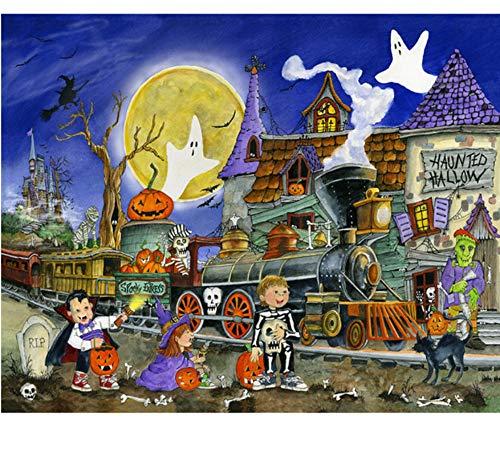 HHZDH Diamant Malerei Cartoon Kreuzstich Mosaik Halloween DIY Diamant Stickerei Strass Dekoration 40X50 cm