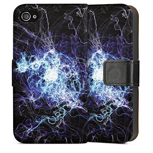 Apple iPhone 5s Housse étui coque protection Électricité Éclair Électricité Sideflip Sac