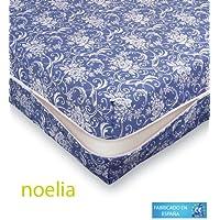 Belnou - Funda colchón noelia, cama 105x190, color azul