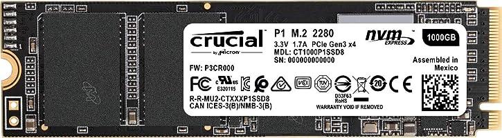 Crucial P1 CT1000P1SSD8 - Disco Duro sólido Interno SSD de 1 TB (3D NAND, NVMe, PCIe, M.2) string