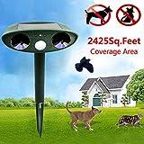 Generic Loskii HG-GA5 GreatHouse Ultrasonic Solar Power Cat Dog Repeller Outdoor Garden Animal
