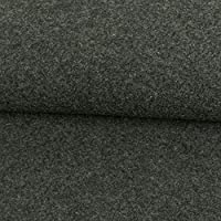 Mantelstoff Lodenoptik uni dunkelbraun Modestoffe Wollstoff Winterstoff