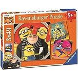 Ravensburger - 08016 - Lot de 3 Puzzles - 49 Pièces - Chaos Minions Moi, Moche et Méchant 3