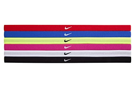 nike headbands. buy nike swoosh sport headbands 6pk (one size fits most, black/white) online at low prices in india - amazon.in