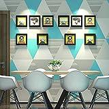 Cunguang Modern Fashion Grau Gelb Blau Schlafzimmer abwaschbaren Wand Papierrolle Home Decor 3D geometrische Tapeten 2903 Blau 5,3 qm.