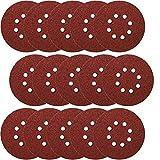 50x Klettscheiben Ø 125mm 8 Loch Körnung 1000 Klett Schleifpapier Exzenterschleifer Schleifscheiben Klettschleifscheiben Klettbefestigung z.B. für AEG, Black&Decker, Bosch, Einhell, Kress