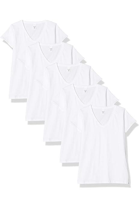 Fruit of the Loom Valueweight Camiseta, Blanco, XS (Pack de 5) para Mujer: Amazon.es: Ropa y accesorios