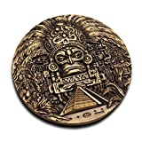 énorme Maya ancienne Prophétie Maya Rare Médaillon pièce de monnaie très détaillées 3d Edition 80mm de diamètre à collectionner Cadeau
