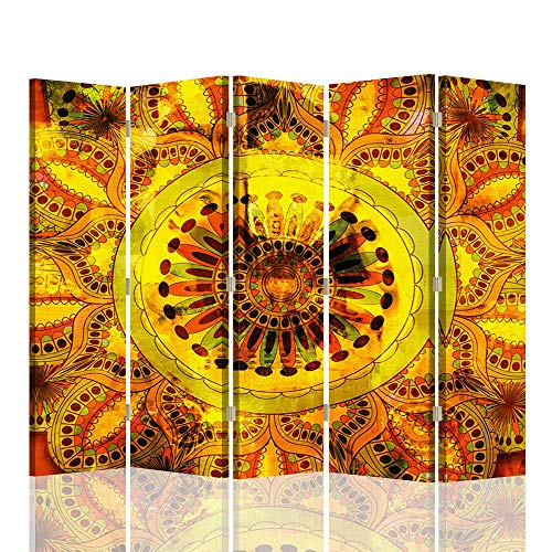 F FEEBY WALL DECOR Foto Biombo Mandala 5 Paneles Unilateral