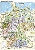 Postleitzahlenkarte Deutschland mit Bundesländern, DIN A0: Maßstab: 1:800.000, Poster mit PLZ-Register, Auflage 2017 - Geometro GmbH