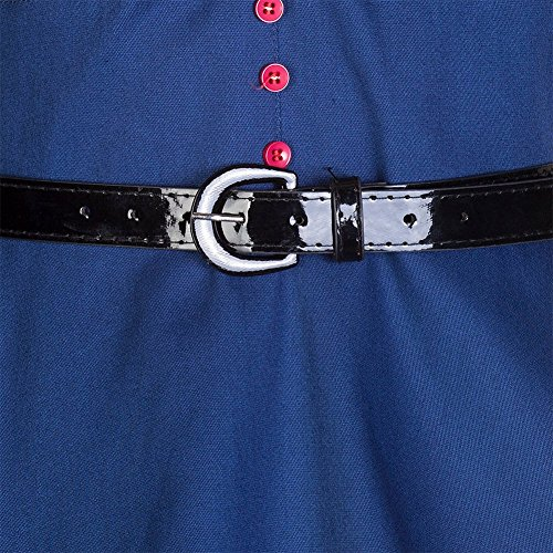 WintCO Robe De Bal Style Années 50 Vintage Clarity 'Audrey' Pastel Rockabilly Femme Bleu