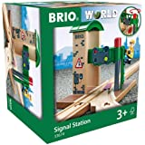 BRIO World Train Signal Station for Kids Age 3 Years Up - Compatible with all BRIO Railway Sets & Accessories