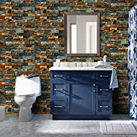 Homeme Brick Contact Paper, 45 x 600cm Peel and Stick Wallpaper Self Adhesive Stickers Wallpaper with PVC Waterproof Oil-Proof Removable for Walls Countertops Cabinet Bathroom Bedroom Furniture