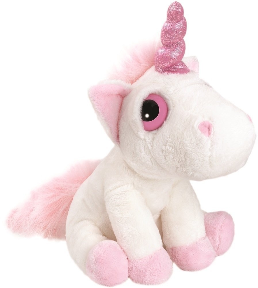 Suki Gifts Mystical Little Peepers Bella Unicorn Soft Boa Plush Toy (White and Pink, Small) 1